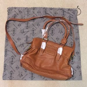 NWT Isabella Fiore Cognac Satchel with Strap
